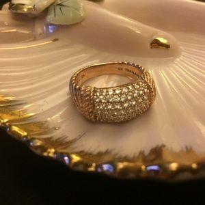 Judith Ripka 14K Gold-Clad CZ Ring